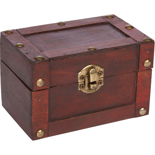 Small decorative wood treasure chest by trademark innovations small decorative wood treasure chest by trademark innovations publicscrutiny Image collections