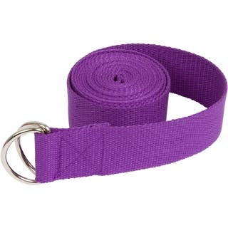 6' Durable Cotton Yoga Strap with Metal D Ring by Trademark Innovations (Purple)|https://ak1.ostkcdn.com/images/products/18104712/P24261361.jpg?impolicy=medium