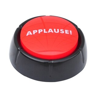 Applause Button - This Button Applauds when Pressed By Allures & Illusions - Red