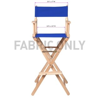 Replacement Cotton Canvas Seat and Back for Director's Chair by Trademark Innovations (Blue)