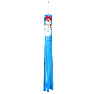 "60"" Snowman Design Column Windsock - Blows in the Wind By Trademark Innovations"