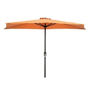 Patio Half Umbrella - 9' - By Trademark Innovations (Melon)
