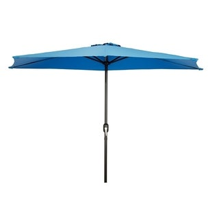 Patio Half Umbrella   9u0027   By Trademark Innovations (Azure)