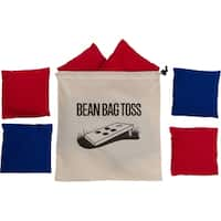 High Quality Bean Bags Set of 8 - 1lb Bags with Stitched Duck Cloth With Carry Bag By Tailgate360 (4 Red and 4 Blue)