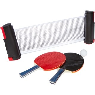 Portable Table Tennis Set with 2 Extra Sturdy Paddles and Balls By Trademark Innovations (Red)
