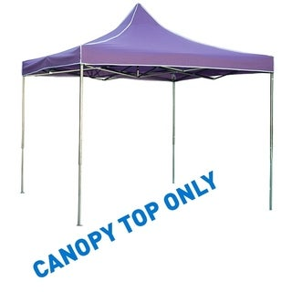 9.6' x 9.6' Square Replacement Canopy Gazebo Top Assorted Colors By Trademark Innovations (Purple)