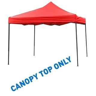 9.6' x 9.6' Square Replacement Canopy Gazebo Top Assorted Colors By Trademark Innovations (Red)