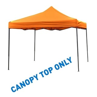 9.6' x 9.6' Square Replacement Canopy Gazebo Top Assorted Colors By Trademark Innovations (Orange)