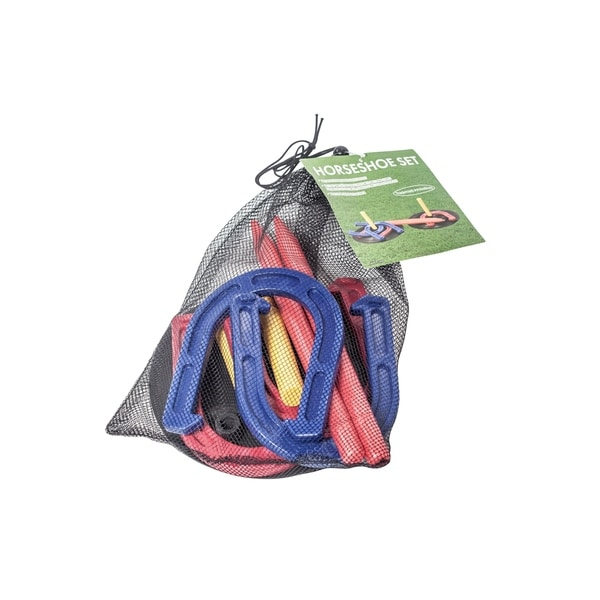 Complete Indoor/Outdoor Horseshoe Set - Horse Shoes and Targets - by Trademark Innovations. Opens flyout.
