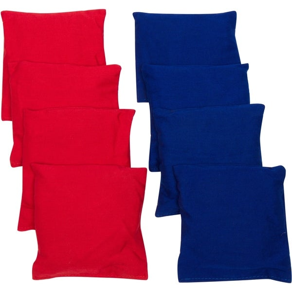 "4"" Starter Set Cornhole Bean Bags (Set of 8) -By Trademark Innovations (Red, Blue)"