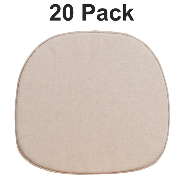20PK Kids Natural Thin Cushion with Removable Cover & Tieback Straps