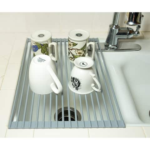 """20"""" Dish Drying Rack - Roll Up Over the Sink by Trademark Innovations"""