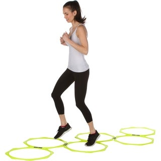 "20"" Hexagonal Speed & Agility Training Rings - Set of 6 With Carry Bag By Trademark Innovations (Light Green)"