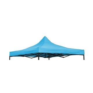 9.6' x 9.6' Square Replacement Canopy Gazebo Top Assorted Colors By Trademark Innovations (Teal)