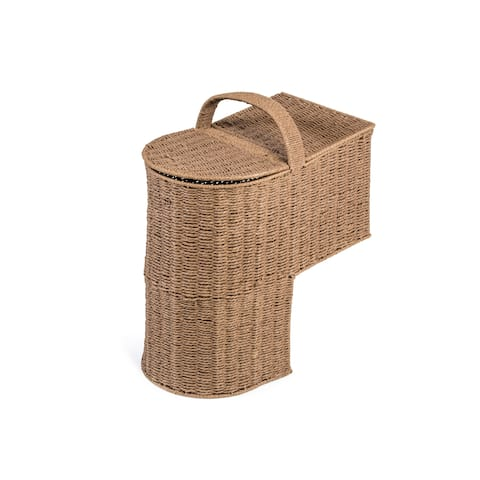 "15.25"" Storage Stair Basket With Handle by Trademark Innovations"