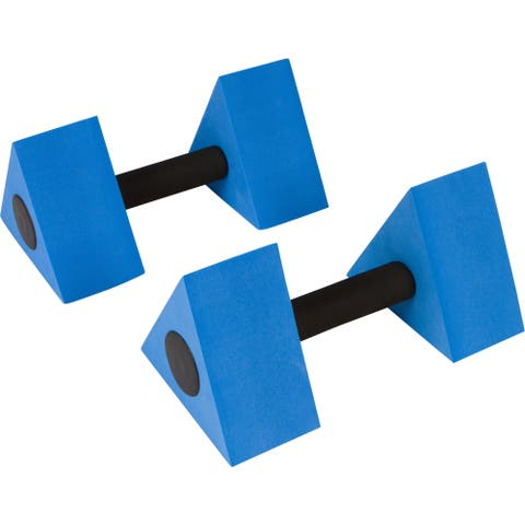 "12"" Triangular Aquatic Exercise Dumbells - Set of 2 - For Water Aerobics - By Trademark Innovations"