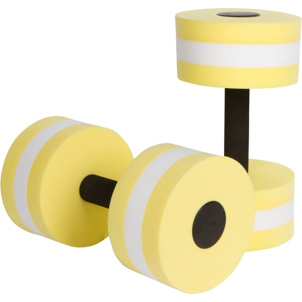 Aquatic Exercise Dumbells - Set of 2 - For Water Aerobics - By Trademark Innovations (Yellow)