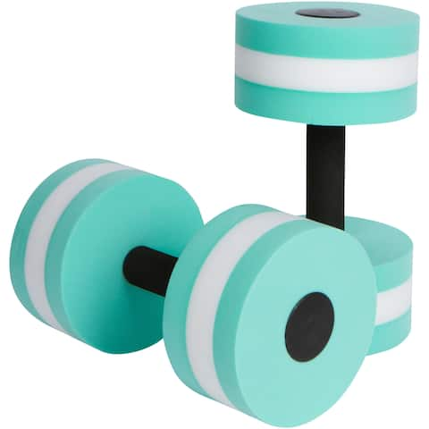 Aquatic Exercise Dumbells - Set of 2 - For Water Aerobics - By Trademark Innovations (Teal)