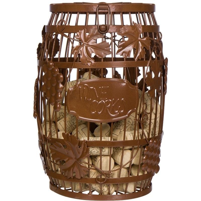 """10"""" Metal Wine Barrel Cork Storage Holder by Trademark In..."""