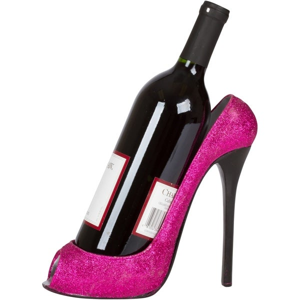 285479301e85 Shop High Heel Wine Bottle Holder - Stylish Conversation Starter Wine Rack  By KitchInspirations (Pink Glitter) - Free Shipping On Orders Over  45 ...