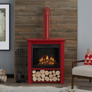 Real Flame Hollis Red Electric Fireplace
