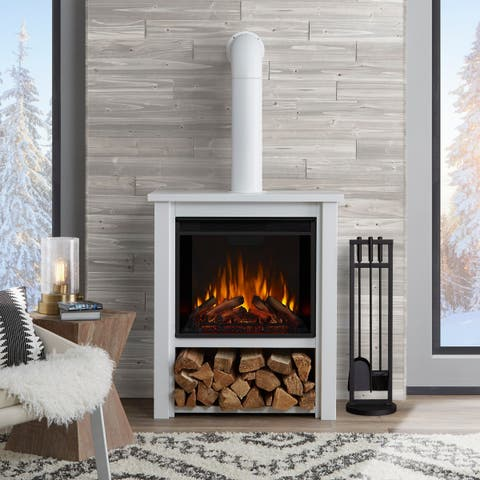 Hollis Electric Fireplace White