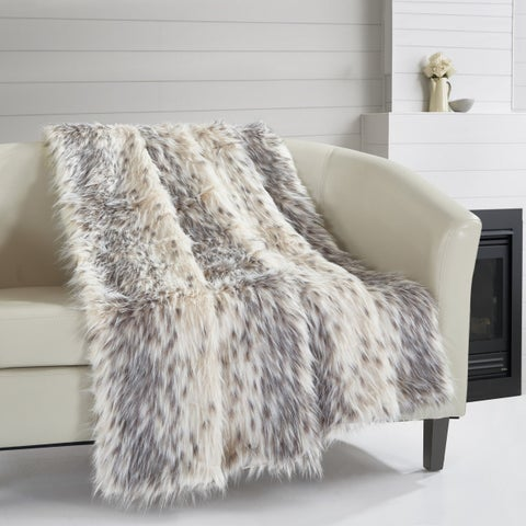 Chic Home Alden Faux Fur Micromink Collection Throw Blanket