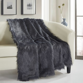 Link to Chic Home Ruffa Faux Fur Ultra Plush Micromink Throw Similar Items in Blankets & Throws