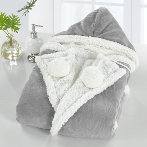 Chic Home Reyn Snuggle Hoodie Ultra Plush Micromink Wearable Blanket