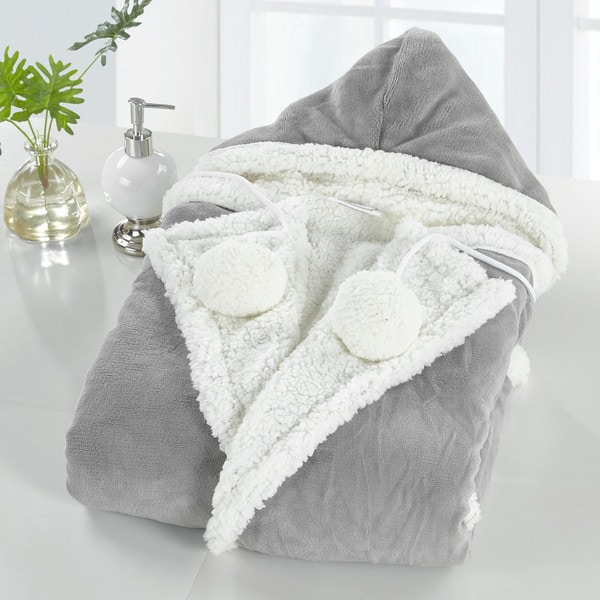 Chic Home Reyn Snuggle Hoodie Ultra Plush Micromink Wearable Blanket. Opens flyout.