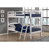 Spindle Twin Over Twin Bunk Bed, White