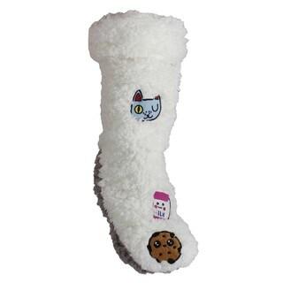 MinxNY Fluffy Graphic Cell Phone Pocket Slipper Sock