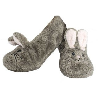 MinxNY Shea Butter Infused Animal Slippers with Non-Skid Bottoms