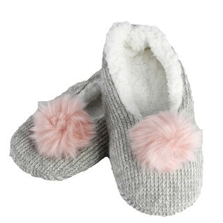 MinxNY Sleepyz Slippers with Pom Poms