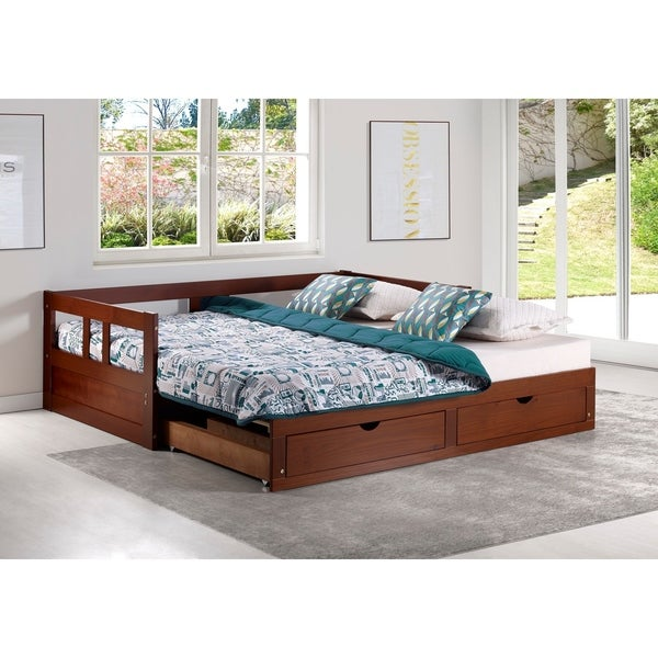 Shop Melody Twin To King Trundle Daybed With Storage Drawers