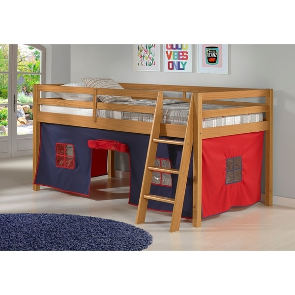 Shop Roxy Junior Loft Solid Wood Bed With Blue And Red Tent