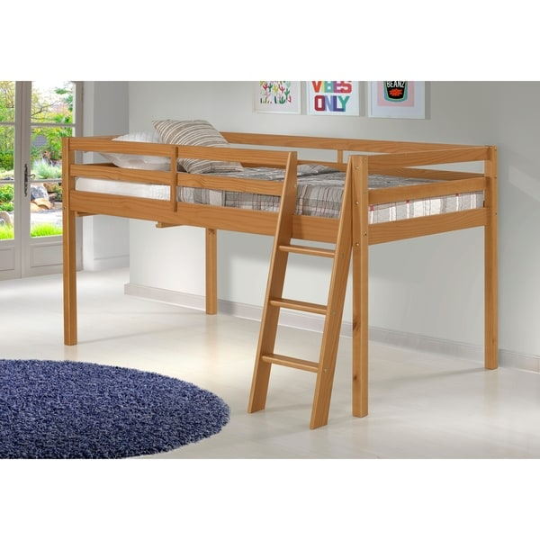 Shop Roxy Solid Wood Twin Junior Loft Bed Cinnamon Free Shipping