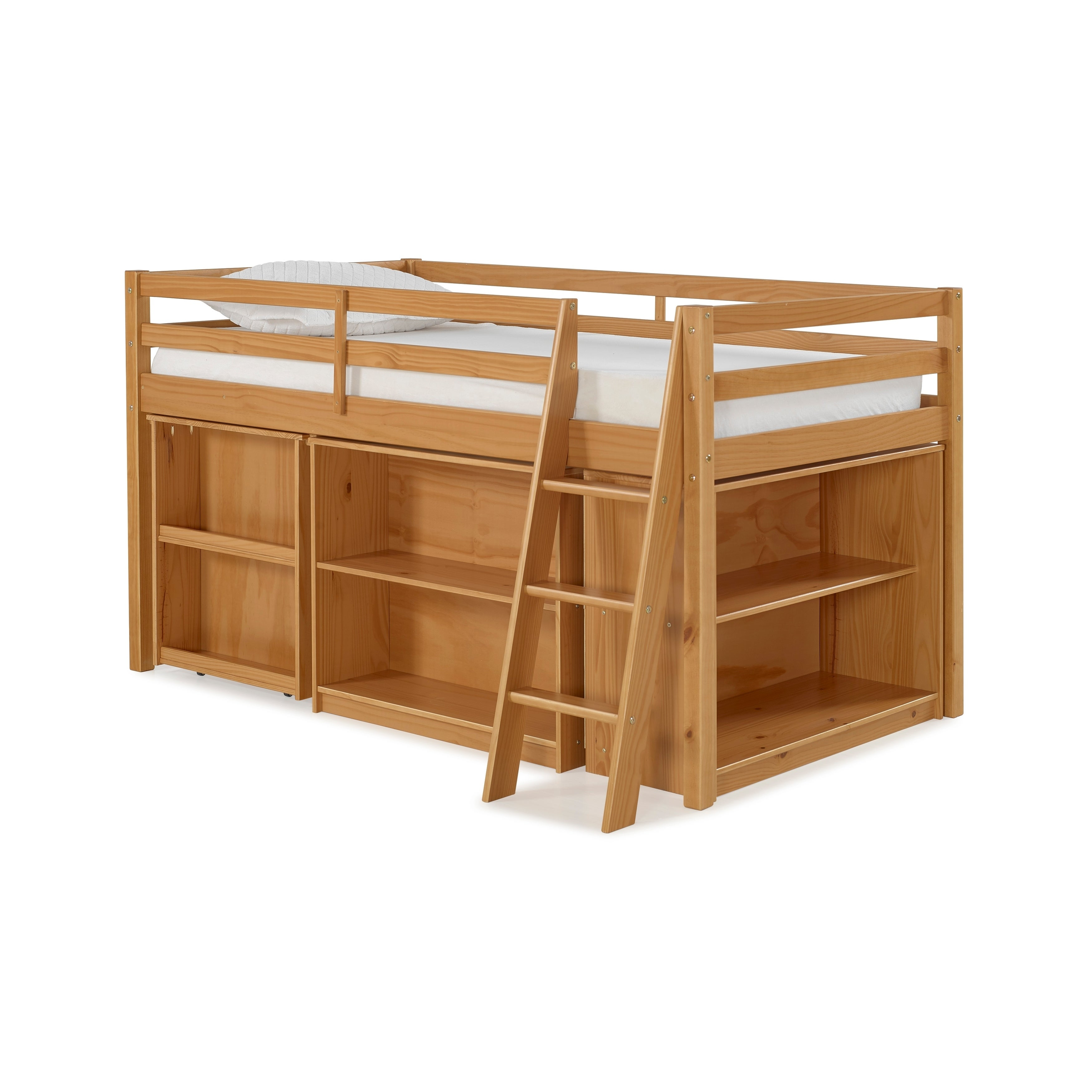 Superbe Shop Roxy Junior Loft Solid Wood Bed With Pull Out Desk, Shelving, And  Bookcase   On Sale   Free Shipping Today   Overstock   18105357