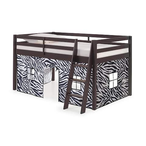 Roxy Twin Junior Loft Solid Wood Bed with Tent