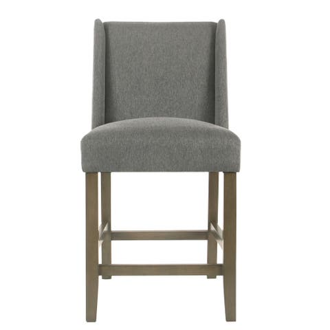 """HomePop Dinah Modern 24"""" Counter Stool - Pewter - 24 inches - 24 inches"""