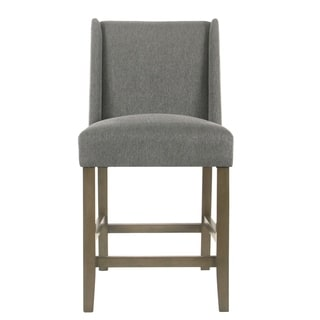 "Link to HomePop Dinah Modern 24"" Counter Stool - Pewter - 24 inches (As Is Item) Similar Items in As Is"