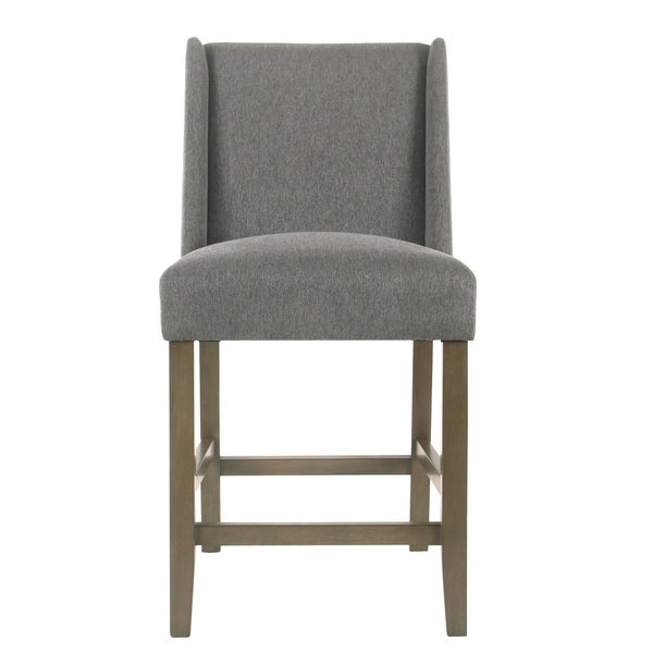 """HomePop Dinah Modern 24"""" Counter Stool - Pewter - 24 inches (As Is Item). Opens flyout."""