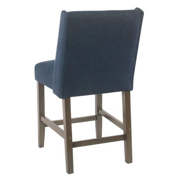Enjoyable Shop Homepop Dinah Modern 24 Counter Stool Indigo Free Machost Co Dining Chair Design Ideas Machostcouk