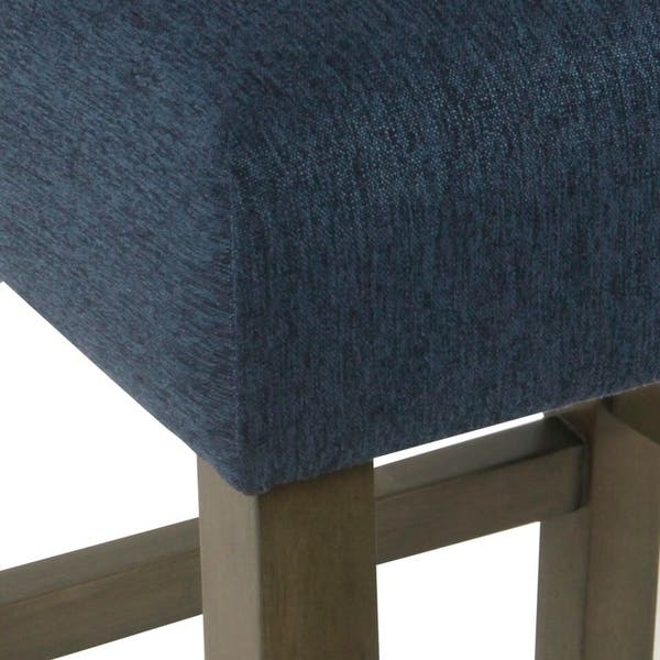 Superb Shop Homepop Dinah Modern 24 Counter Stool Indigo Free Machost Co Dining Chair Design Ideas Machostcouk