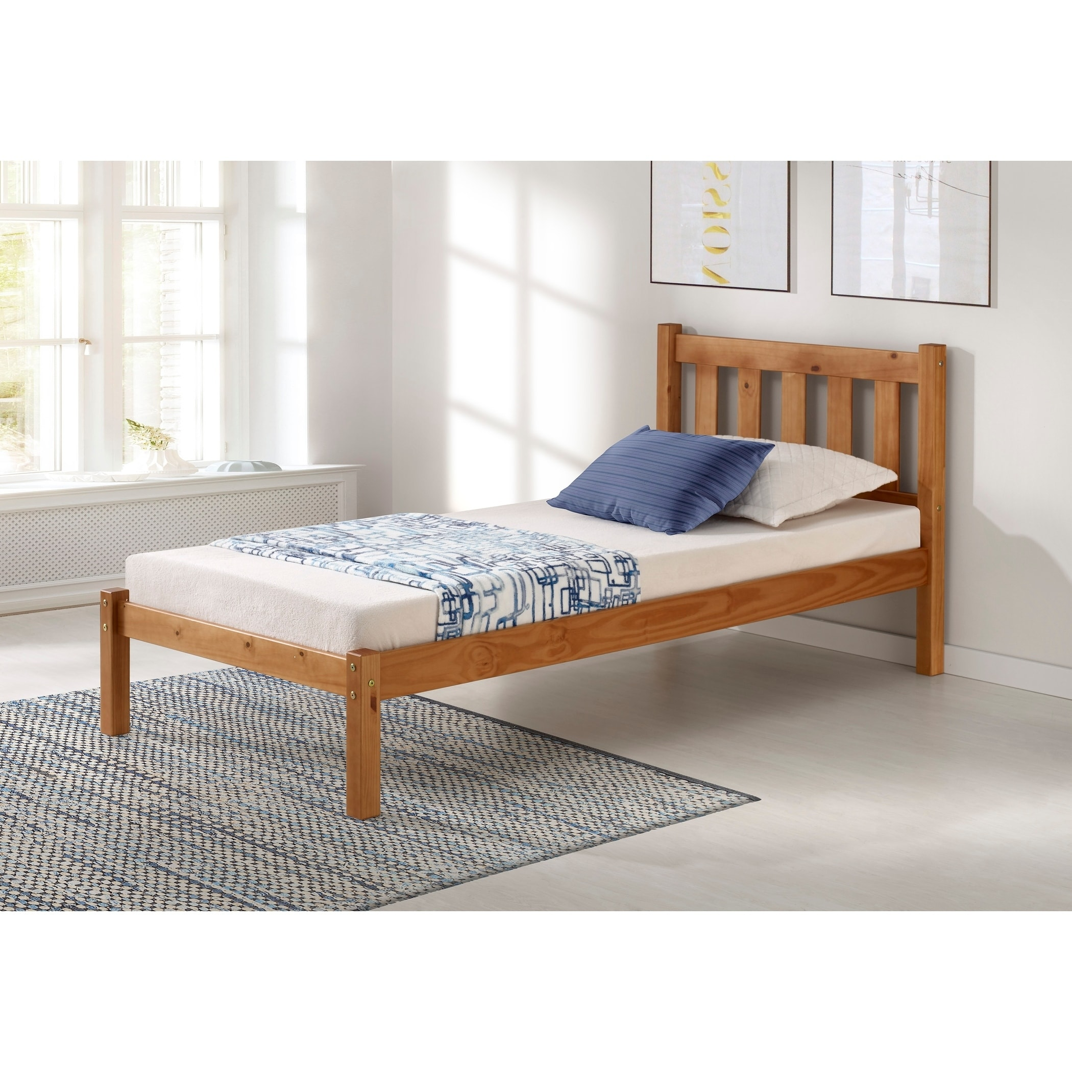 Shop Poppy Solid Wood Twin Or Full Size Bed On Sale Overstock