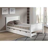 Harmony Twin Bed with Storage Drawers, White
