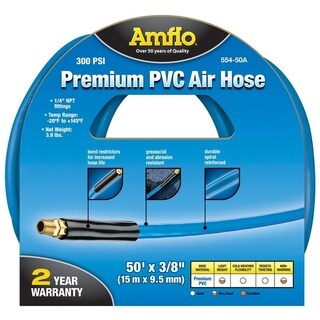 Amflo PVC Air Hose 1/4 in. x 50 ft. L 300 psi