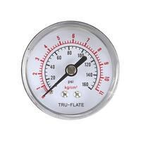 Tru-Flate  Air Line Gauge  Polycarbonate  1/4 in. NPT