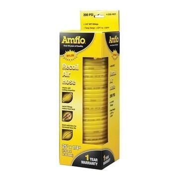 Amflo Recoil Air Hose 1/4 in. x 25 ft. L 200 psi