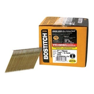 Stanley Bostitch 3 in. x .120 in. L Galvanized Stick Framing Nails 2,000 pc.